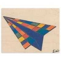 Airplane Blocks 16-Inch x 20-Inch Wood Wall Art