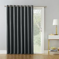 Armin 95-Inch Grommet Room Darkening Extra-Wide Door Curtain Panel in Coal