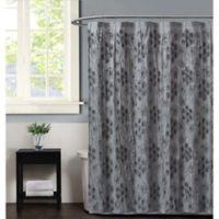 Christian Siriano Pretty Petals Shower Curtain in Grey