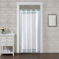 Wamsutta® Hotel Border 78-Inch x 54-Inch Shower Curtain in Aqua
