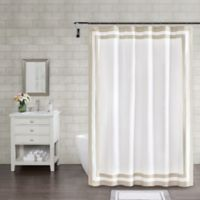 Wamsutta® Hotel Border 72-Inch Square Shower Curtain in Taupe
