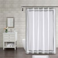 Wamsutta® Hotel Border 72-Inch Square Shower Curtain in Grey