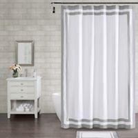 Wamsutta® Hotel Border 96-Inch x 72-Inch Shower Curtain in Grey