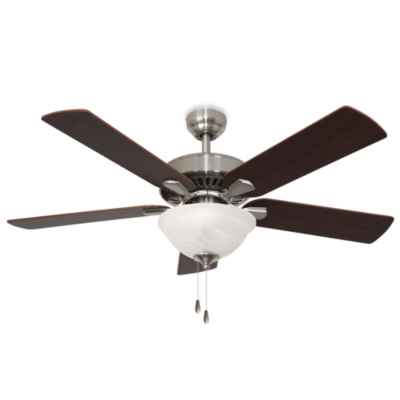 52-Inch Cordova Bowl Light Brushed Nickel Ceiling Fan