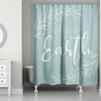 "Designs Direct ""Peace on Earth"" Shower Curtain in Green"