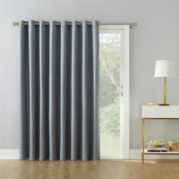 Armin 95-Inch Grommet Room Darkening Extra-Wide Door Curtain Panel in Dusty Blue