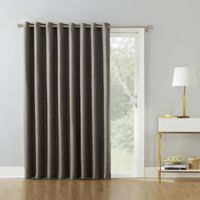 Armin 84-Inch Grommet Room Darkening Extra-Wide Door Curtain Panel in Latte