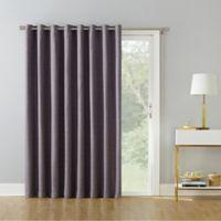 Armin 95-Inch Grommet Room Darkening Extra-Wide Door Curtain Panel in Orchid