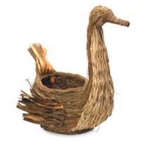 National Tree Company® 21-Inch Country Goose Woven Basket