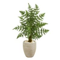Nearly Natural 3.5-Foot Artificial Ruffle Fern Palm Tree in Planter