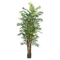 Nearly Natural 7-Foot Artificial Bamboo Palm Tree