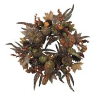 Nearly Natural 28-Inch Autumn Pumpkin Wreath