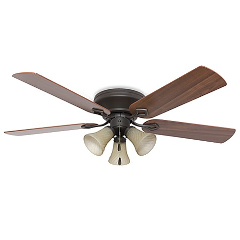 52-Inch Hampshire 3-Light Low Profile Bronze Fan