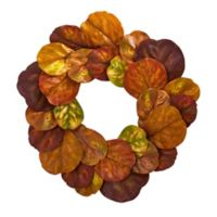 Nearly Natural 29-Inch Fiddle Leaf Wreath