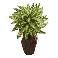 Nearly Natural 19-Inch Artificial Aglonema Plant in Decorative Planter