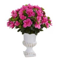 Nearly Natural 17-Inch Artificial Azalea Plant in Urn Planter