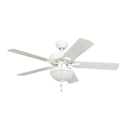 Buy outdoor ceiling fans and light from bed bath beyond 52 inch halifax white outdoor ceiling fan with light kit aloadofball Image collections