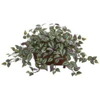 Nearly Natural 14-Inch Wandering Jew Artificial with Brown Planter
