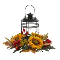 Nearly Natural 18-Inch Sunflower Berry Artificial Candelabrum