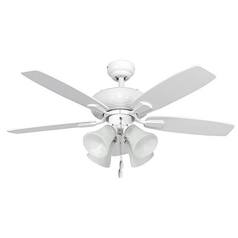 42 Inch Dorset 4 Light White Ceiling Fan Bed Bath Amp Beyond