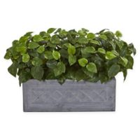 Nearly Natural™ 18-Inch Pothos Artificial Plant in Stone Planter