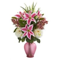 Nearly Natural 28-Inch Artificial Mixed Flowers Arrangement with Vase