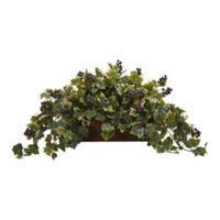 Nearly Natural 18-Inch Grape Leaf Plant with Decorative Planter