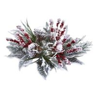 Nearly Natural Snowy Magnolia Berry Artificial Arrangement Candelabrum
