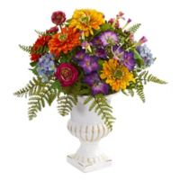 Nearly Natural Mixed Floral Artificial Arrangement in Urn