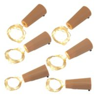 Wine Cork with LED Submersible Mini String Lights in White (Set of 6)