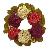 Nearly Natural 20-Inch Hydrangea Berry Wreath