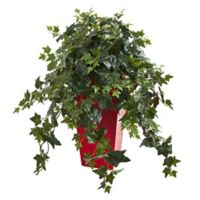 Nearly Natural 30-Inch Faux Ivy Plant in Red Planter