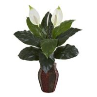 Nearly Natural 31-Inch Artificial Spathifyllum Plant in Decorative Planter