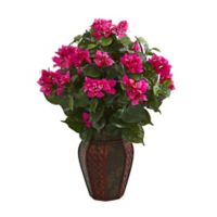 Nearly Natural 24-Inch Aglonema Plant in Pink with Planter