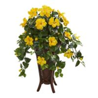 Nearly Natural 34-Inch Hibiscus Plant with Planter