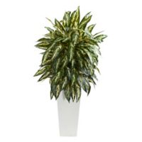 Nearly Natural 35-Inch Artificial Aglonema Plant with White Planter