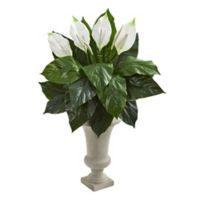 Nearly Natural 26-Inch Spathifyllum Artificial Plant In Red Planter