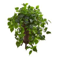 Nearly Natural Philodendron Artificial Plant In Stand Planter