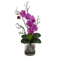 Nearly Natural 24-Inch Artificial Purple Phalaenopsis Orchid in Vase
