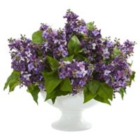 Nearly Natural 14-Inch Artificial Purple Lilac Arrangement in Vase