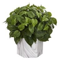 Nearly Natural 15-Inch Artificial Pothos Plant in Vase