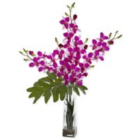 Nearly Natural 33-Inch Artificial Purple Dendrobium Tropical Orchid in Vase