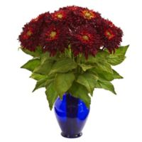 Nearly Natural 19-Inch Artificial Red Sunflower Arrangement in Vase