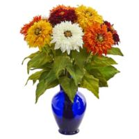 Nearly Natural 19-Inch Artificial Assorted Sunflower Arrangement in Vase