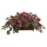 Nearly Natural Artificial Pink Bougainvillea Plant in Planter