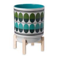 Zuo® Modern Retro 12.8-Inch Ceramic Planter in Green/White