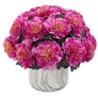 Nearly Natural 10-Inch Artificial Dark Pink Carnation Arrangement in Vase