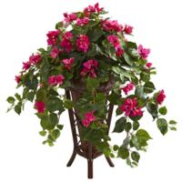 Nearly Natural 31-Inch Artificial Pink Bougainvillea Plant in Planter