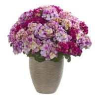 Nearly Natural 27-Inch Artificial Hydrangea Beauty Plant in Beige Planter