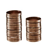 Madison Park Halo Candle Holders in Bronze (Set of 2)